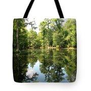 Swampland Reflection At The Plantation Tote Bag