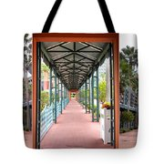 Swan And Dolphin Resort Walt Disney World 3 Panel Composite Tote Bag