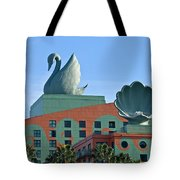 Swan And Shell Tote Bag