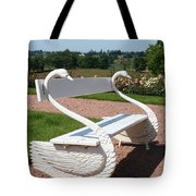 Swan Bench Tote Bag