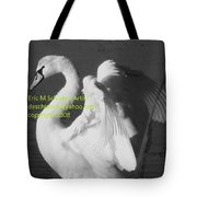 Swan Black And White Tote Bag