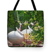 Swan Boats Tote Bag