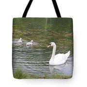 Swan Family Tote Bag by Teresa Mucha