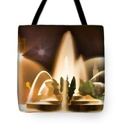 Swan Fountains Tote Bag