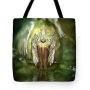 Swan Goddess Tote Bag
