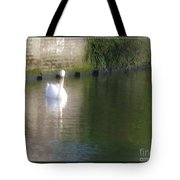 Swan In The Canal Tote Bag