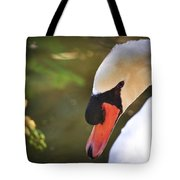 Swan On A Lake Tote Bag