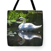 Swan On Lake Sabbatia Tote Bag