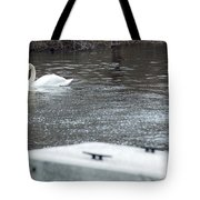 Swan On The Water Tote Bag