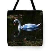 Swan Solitude Tote Bag