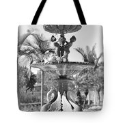 Swan Statue - Black And White With Vignette Tote Bag