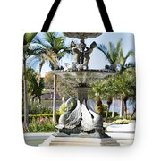 Swan Fountain In Lakeland Tote Bag