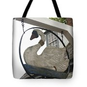 Swan Tavern Sign Yorktown Tote Bag by Teresa Mucha