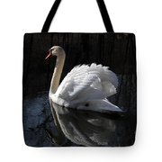 Swan With Reflection  Tote Bag