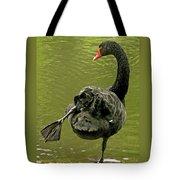 Swan Yoga Tote Bag by Rona Black
