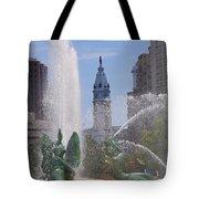 Swann Fountain In Philadelphia Tote Bag