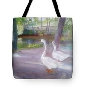 Swans At Smithville Park Tote Bag