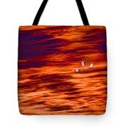 Swans Flying Tote Bag