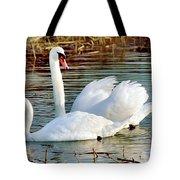 Swans Tote Bag by Gary Heller