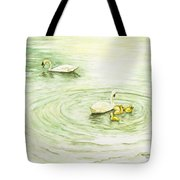 Swans In St. Pierre Tote Bag