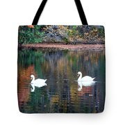 Swans At Betty Allen Tote Bag