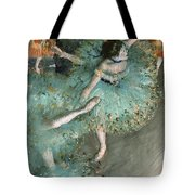 Swaying Dancer .dancer In Green Tote Bag