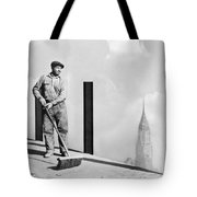 Sweeping The Empire State Bldg Tote Bag