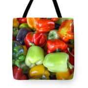 Sweet Bell Peppers Assorted Colors Tote Bag