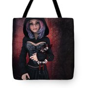 Sweet Betty With Gothic Doll Tote Bag