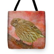 Sweet Female House Finch 3 - Digital Paint Tote Bag