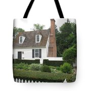 Sweet Home In Colonial Williamsburg Tote Bag
