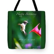 Sweet Hummingbird Birthday Card Tote Bag