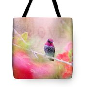 Sweet Hummingbird Love Tote Bag