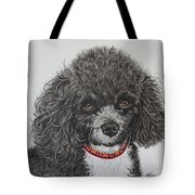 Sweet Miss Molly The Poodle Tote Bag