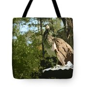 Sweet Pea On The Hen House Roof Tote Bag