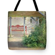 Sweet Peas And Autumn Harvest Oil On Canvas Tote Bag