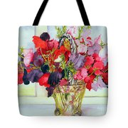 Sweet Peas In A Vase Tote Bag