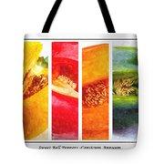 Sweet Pepper Watercolor Tote Bag