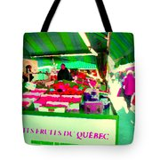 Sweet Ripe Strawberries Petits Fruits Du Quebec Direct From Farmers Market Food Art Carole Spandau  Tote Bag