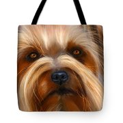 Sweet Silky Terrier Portrait Tote Bag