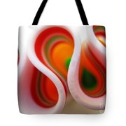 Sweet Waves Of Ribbon Candy Tote Bag