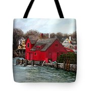 Swells In The Harbor Tote Bag