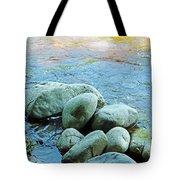 Swift River Rock Kancamagus Highway Nh Tote Bag