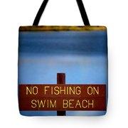 Swim Beach Sign Tote Bag