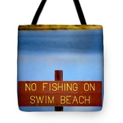Swim Beach Sign L Tote Bag