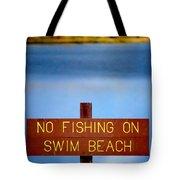 Swim Beach Sign L Tote Bag