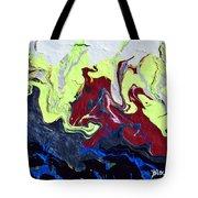 Swim Of The Red Dragon Tote Bag