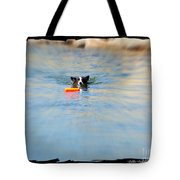 Swimmer In The Truckee River Tote Bag