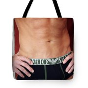 Swimmer Torso Palm Springs Tote Bag by William Dey