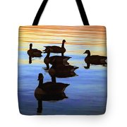 Swimming Geese Tote Bag